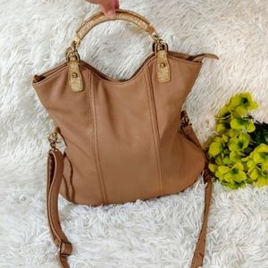 ALDO Tan Hobo Crossbody Messenger/Satchel …